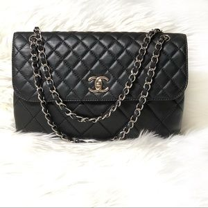 CHANEL Black In The Business Classic Flap Bag